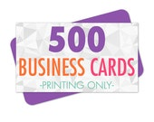 500 Printed Business Cards, Full Color with Rounded Corners, Glossy or Matte Coating