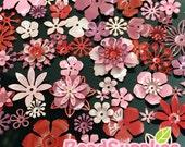 FG-FG-090SR- Nickel free, Color enameled, Sampler set of flower filigree, Rose mix, 48 pcs