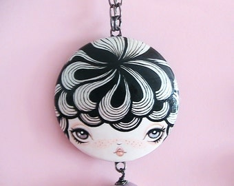Minerva Doll Face Necklace