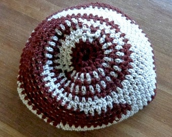 Hippie Crochet Wool Spiral Dreadlock Tam Hipster Slouch Hat Beanie Cap ~~SIZE SMALL~~