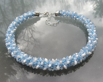 Blue Eyes Kumihimo Necklace