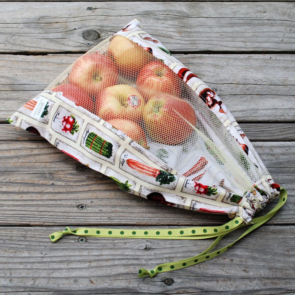 veggie labels reusable produce bag from green by mamamade. Black Bedroom Furniture Sets. Home Design Ideas