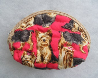 Small Quilted Purse - Yorkshire Terriers yorkies