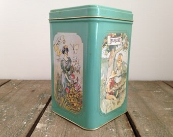 Ladies on the Months vintage tin