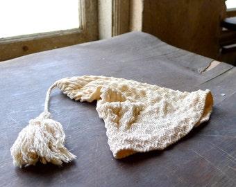 Antique Silk Crochet Night Cap