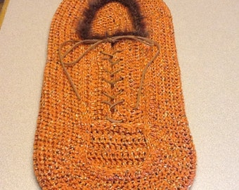 Ewok inspired baby cocoon