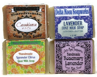 All Natural Handmade Lavender Goat Milk Soap, organic Shea Butter soap, cold process soap, Complementary shipping, soap for sensitive skin