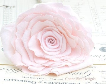 2nd Anniversary Pink Cotton Flower Gift for Her Wife Girlfriend Fiancee Second Wedding Anniversay - Made to Order