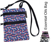 Essential Oils Ella Bella Bag by Borsa Bella - Waterproof lining fabric - Purple Dots Fabric