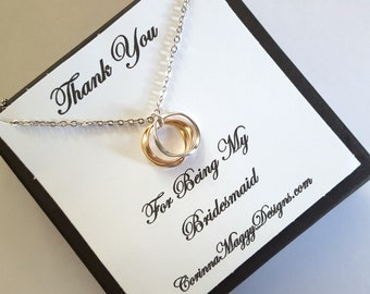 Bridesmaid Necklace Gift Set, Wedding, Engagement, Thank you gift wedding, Maid of honor gift, Wedding Jewelry, Accessories, bridal party
