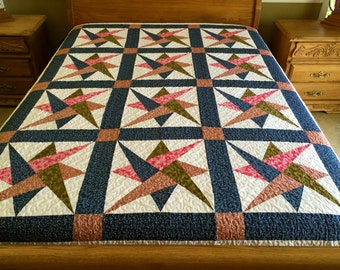 King size  Star  Patchwork Complete Quilt  Yp005