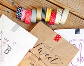 DIY Washi Tape for my Paper Bag Favors - Pick One Style