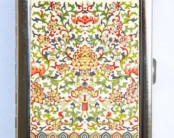 Floral Pattern #6 Cigarette Case id case Wallet Business Card Holder botanical