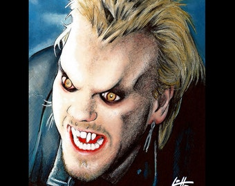 "Print 8x10"" - David Van Etten - The Lost Boys Vampire Horror Dark Art Blood Kiefer Sutherland 80s Gothic Halloween Zombie Comedy Pop Dracula"