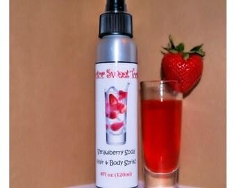 Strawberry Soda Body Splash Hair Perfume 4oz