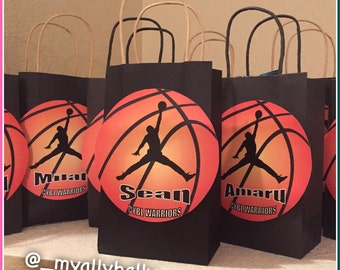 Made to Order - Basketball Personalized Gift Bags
