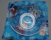 Microwave Bowl Cozy or Potholder Frozen Fabric