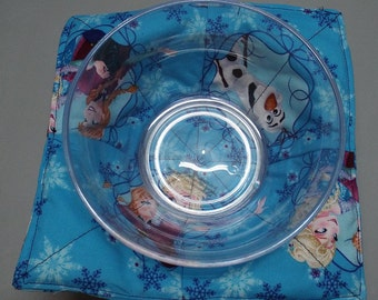 Microwave Bowl Cozy or Potholder Frozen Fabric