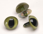 9MM GREEN Cat EYES  Plastic 10 sets bear/doll making needle felting