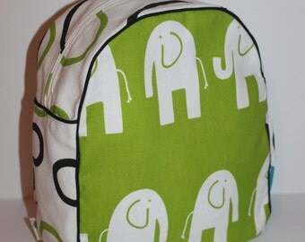 Handmade Elephant Backpack for a Toddler -Ready to Ship- CLEARANCE TAKE 30% OFF-no coupon code needed