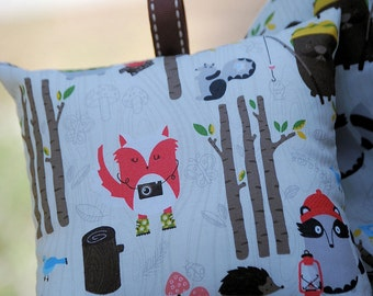 Shopping Cart Cover - Boutique shopping Cart Cover for Boy  - Woodland Camping buddies