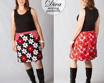 The Chocolate Chip Skirt Pattern PDF - A Line Skirt Pattern for Women XS-Xxxl