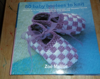 50 Baby Booties to Knit Pattern book
