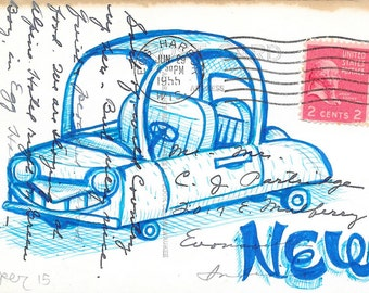 Original Drawing - New Car- by Mr. Hooper of Nashville, Tennessee
