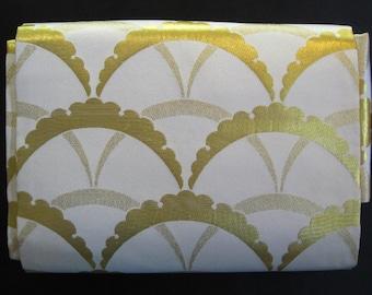 Golden Arches - Vintage Japanese Nagoya Obi Silk Traditional Belt Sash Collectible