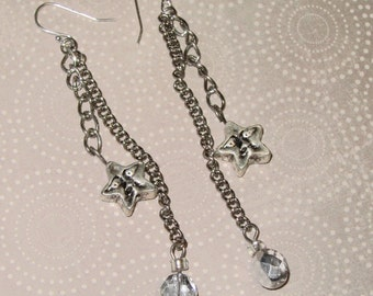 Silver Stars Earrings