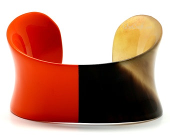 Horn & Lacquer Cuff Bracelet - Q9642-O