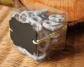 200 Clear Gift Box 3x3x3,cupcake wedding party box,clear cupcake box,wedding favor box,Smores kit, square box, food safe box, thank you gift