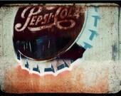 Vintage Photo  Vintage Pepsi Sign Fine Art Photograph Large