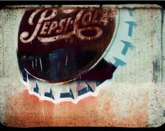 Vintage Pepsi Sign Fine Art Photo