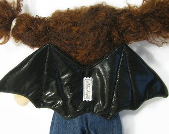Bat wings for 10 to 12 inch waldorf doll, doll wings, doll dress up, doll costume
