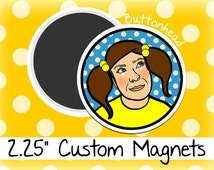 25 Custom Personalized Photo Magnets 2.25 Inch (Large) Round