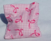 Boo boo pack- hot/cold therapy rice bag- removable cover-Pink Ribbons