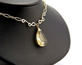 Yasmin - Rutilated Quartz and Gold Filled Necklace