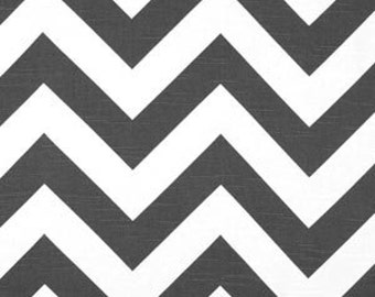 Black chevron fabric charcoal slub chevron fabric chevron remnant black white remnant