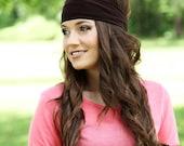 Solid Headbands, Solid Head Bands, Solid Color Headbands, Solid Color Head Bands, Yoga Headbands, Yoga Head Bands, Dark Brown Headband