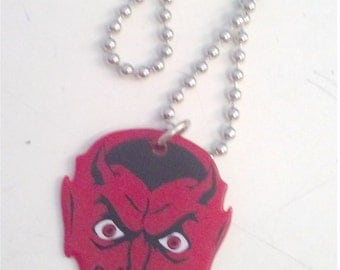 Devil Guitar Pick Necklace