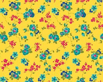 Olivia - Yellow - Fabric From Riley Blake - 1 Yard - 7.95 Dollars
