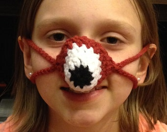 Fox Nose Warmer, nose cozy, crochet fox nose warmer one size fits most
