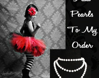 """48"""" Faux Pearl Necklace - Add To My Tutu Order"""