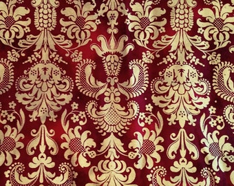 Gorgeous red and gold vintage fabric