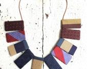 Silk Textile Statement Necklace
