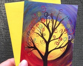 Swirly Tree Card