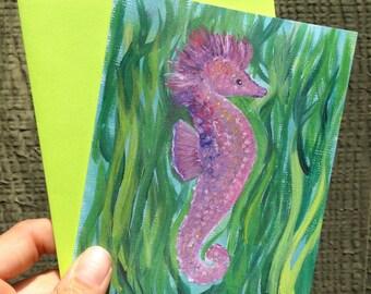 I Love Seahorses Card