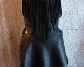 Leather Halter Top and Skirt Set COMICON Halter Top and Wrap Skirt Outfit LARP Fairy Renaissance Outfit Corset Handmade by Debbie leather