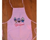 Life Is Sweet Ice cream, Donut, Cupcake Embroidered Kids Apron